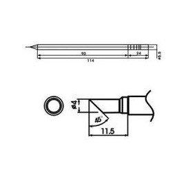 Cartucho soldador punta Biselada AOYUE ( WQ-4C )