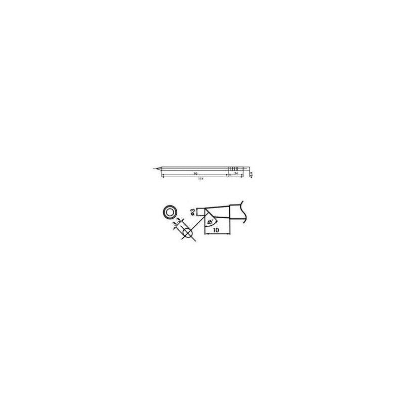 Cartucho soldador punta Biselada AOYUE ( WQ-3BC )