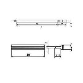 Cartucho soldador punta PALETILLA AOYUE ( WQ-1402 )
