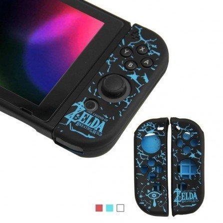 Funda protectora silicona Joy Con Nintendo Switch - ZELDA AZUL
