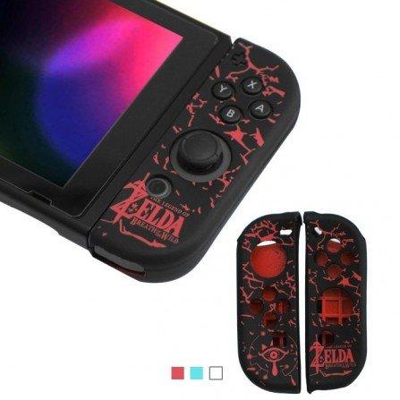 Funda protectora silicona Joy Con Nintendo Switch - ZELDA ROJO