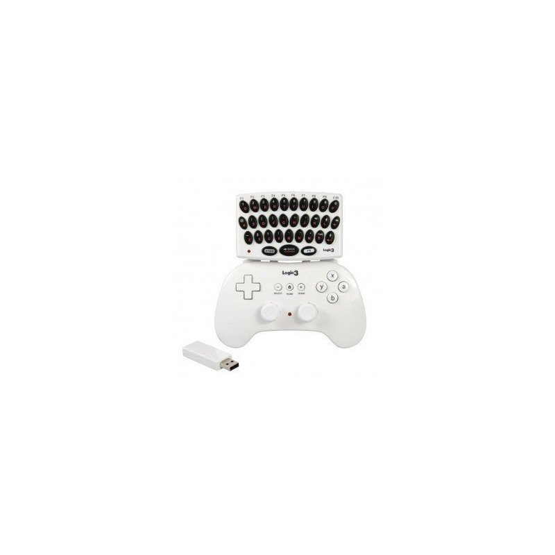 Teclado para mando clasico inalambrico Wii (LOGIC 3)