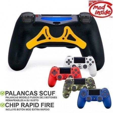Mando PS4 Competitivo Rapif Fire + Palancas scuf FUSION