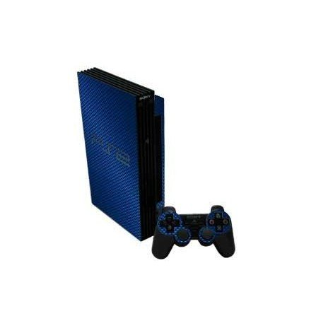 Fibra Carbono Azul skin PS2
