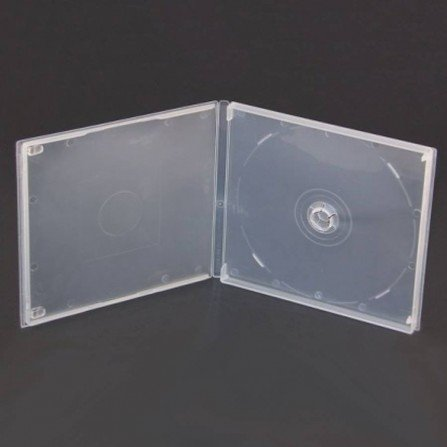 Estuche mini DVD transparente