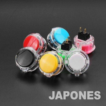 Boton Arcade JAPONES 30mm - CRISTAL