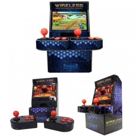 Maquina recreativa ARCADE MINI 16Bit 2 PLAYERS INALAMBRICO
