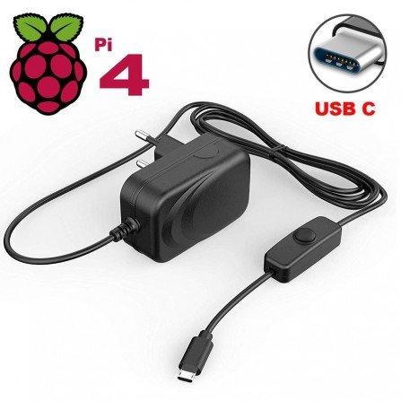 Fuente alimentación con Interruptor 5V 3A - RaspBerry PI 4B+