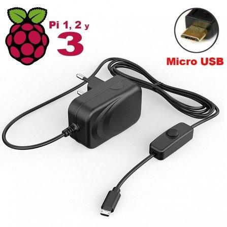 Fuente alimentación 5V 3A - RaspBerry PI 3b+