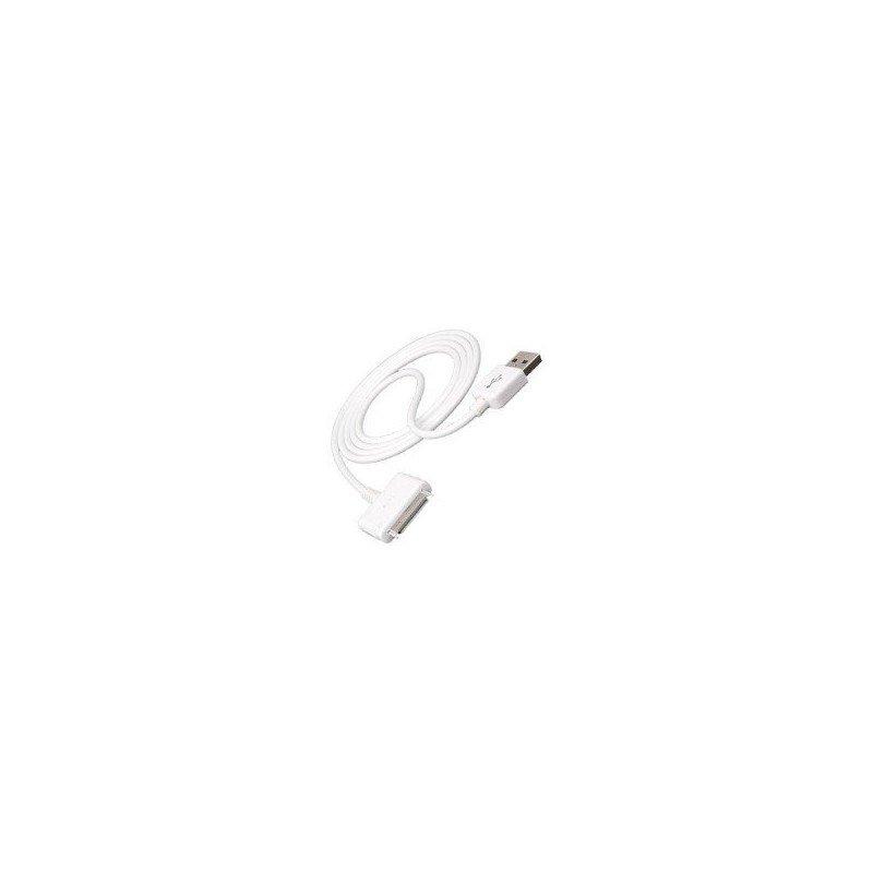 Cable USB Datos y Cargador iPhone / iPod / iPad (Modelo ancho)