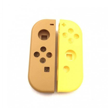 Carcasa mando Joy Con Nintendo Switch - MARRON / AMARILLO