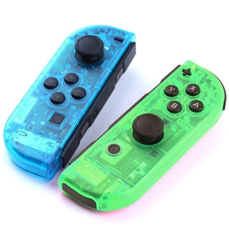 Carcasa mando Joy Con Nintendo Switch - CRISTAL AZUL / VERDE