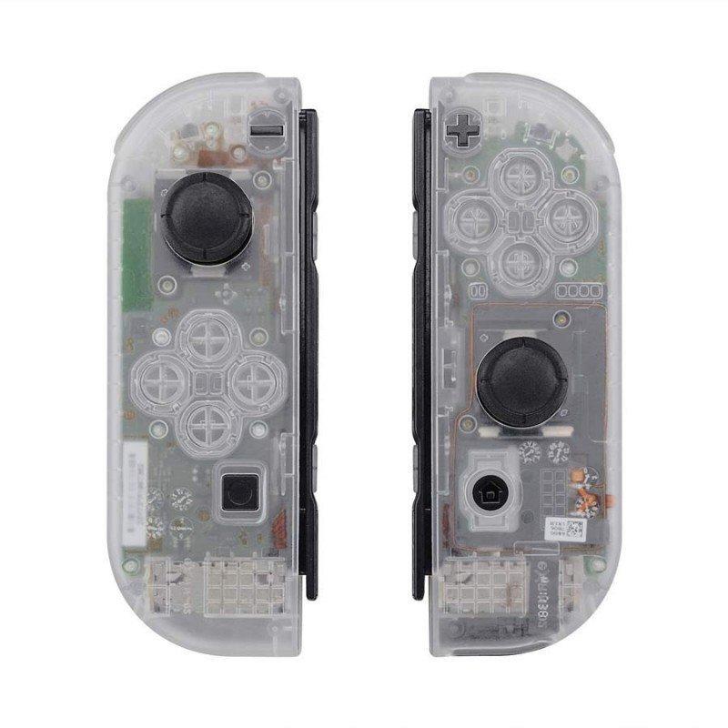 Carcasa mando Joy Con Nintendo Switch - CRISTAL TRANSPARENTE