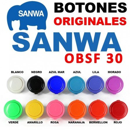 Boton ARCADE SANWA OBSF30 ORIGINAL