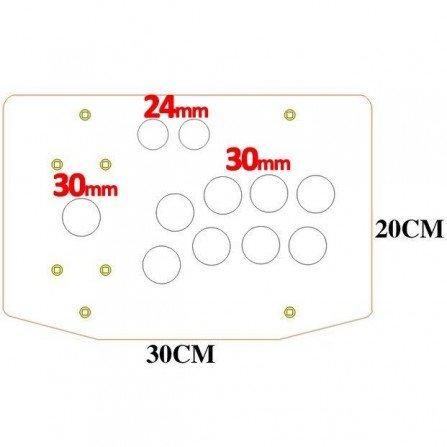 Plancha metacrilato joystick arcade - TRANSP H10