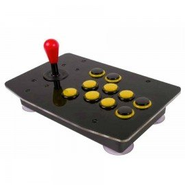 Joystick arcade PRO 8 Botones - AMARILLO