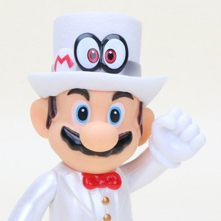 Figura Super Mario Bros Muñeco MARIO traje blanco de novio boda de PVC (13cm) muy bien acabado