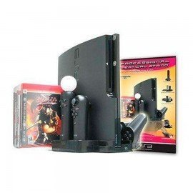 Soporte vertical + base de carga mandos PlayStation3 Slim
