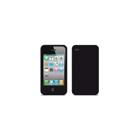 Funda silicona iPhone 4G / 4s ( Negra )