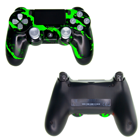 Mando PS4 Personalizado - Scratch Green PRO