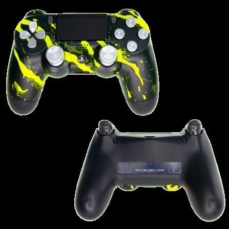 Mando PS4 Personalizado - Scratch Yellow PRO