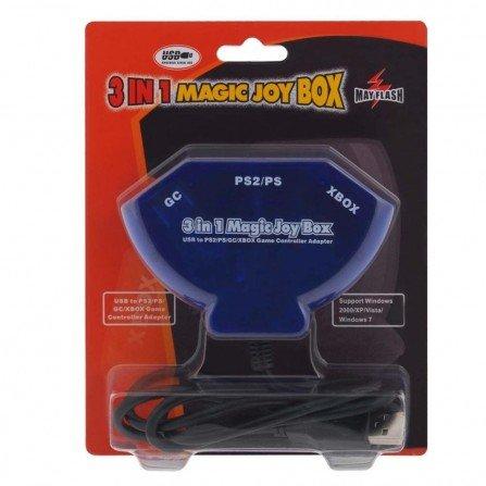 Magic JoyBox 3 en 1 - Convertidor PS2/Xbox/GameCube  a USB