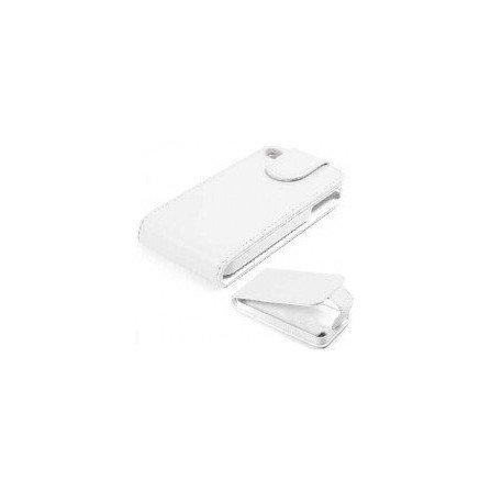 Funda de piel iPhone 4G / 4s  ( Blanca )