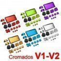Botones mando DualShock 4 PS4 - METALIZADO (V1-V2)