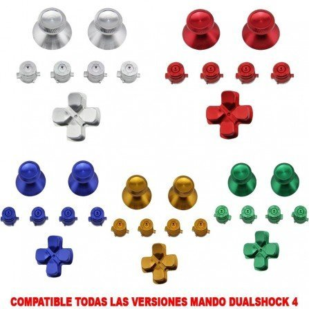 Botones mando DualShock 4 PS4 - ALUMINIO