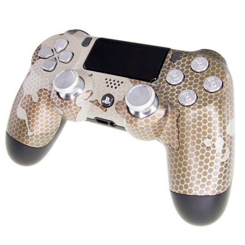 Mando PS4 Personalizado - GOLD CAMO