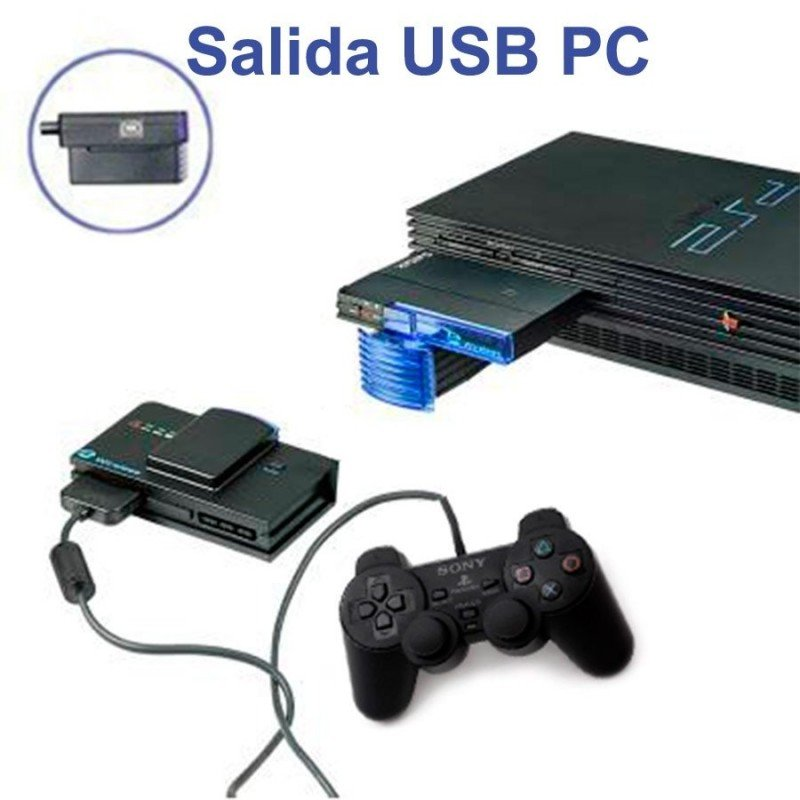 Convertidor inalámbrico de mandos PS2/PC