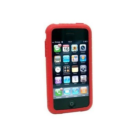 Funda silicona iPhone 3G / 3Gs ( Roja )
