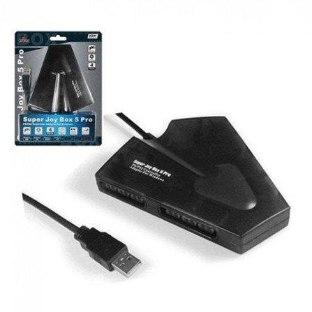 SUPER BOX 5 Advance PRO USB (Adaptador 4 mandos de PS2 a PC)
