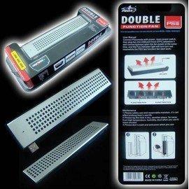 Ventilador Doble Fuction PlayStation 3 ( Cromado )