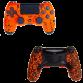 Mando PS4 Competitivo MEGAGRIP Fluor Naranja + Palancas scuf FUSION
