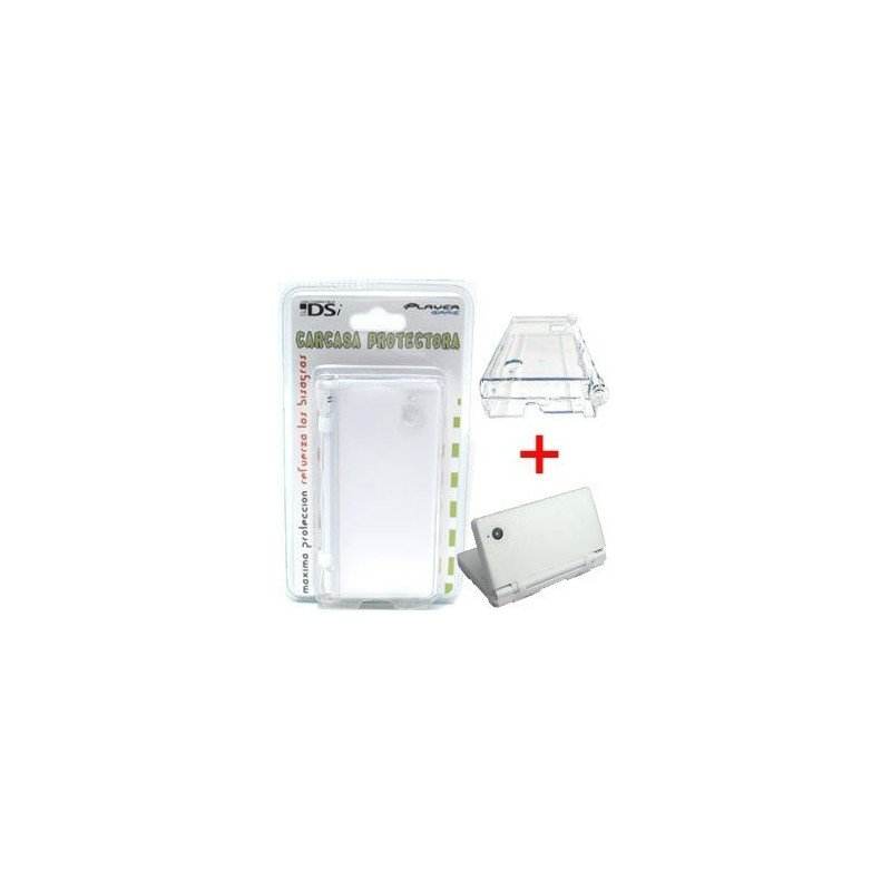 Carcasa protectora + Funda de silicona DSi  2 en 1 ( Blanco )