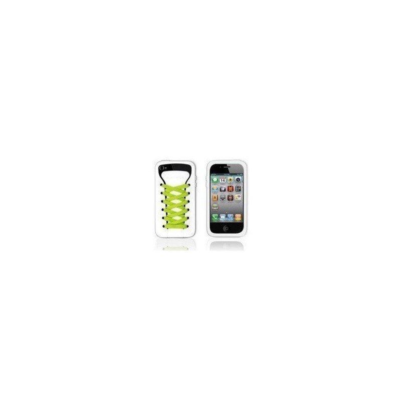 Funda silicona iPhone 4G / 4s ( Zapatilla Blanca )