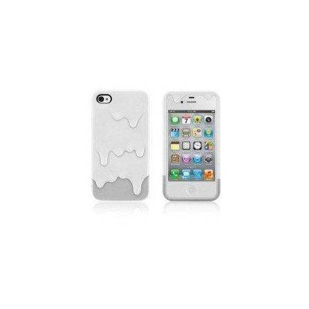 Funda silicona iPhone 4G / 4s ( Helado de Nata )