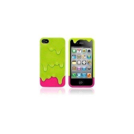 Funda silicona iPhone 4G / 4s ( Helado de Pistacho )
