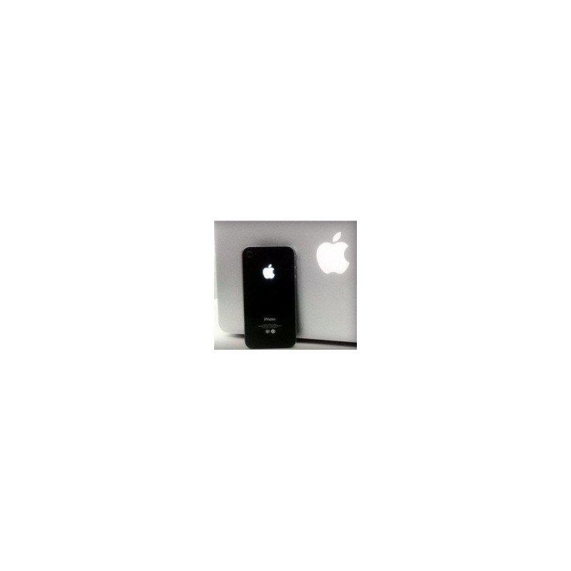 Tapa trasera bateria iPhone 4G MANZANA ILUMINADA (Negra)