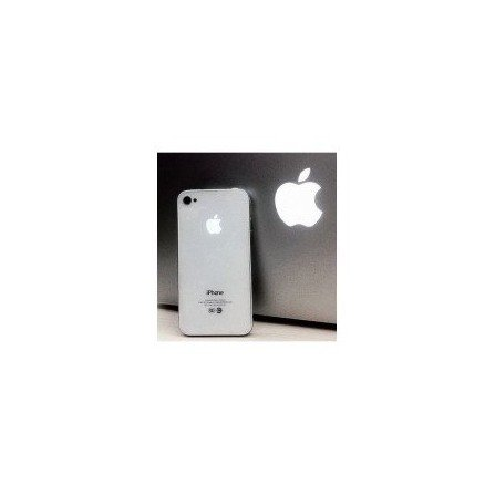 Tapa trasera bateria iPhone 4G MANZANA ILUMINADA (Blanca)