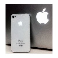 303df024744 Tapa trasera bateria iPhone 4G MANZANA ILUMINADA (Blanca) iPhone 4G...