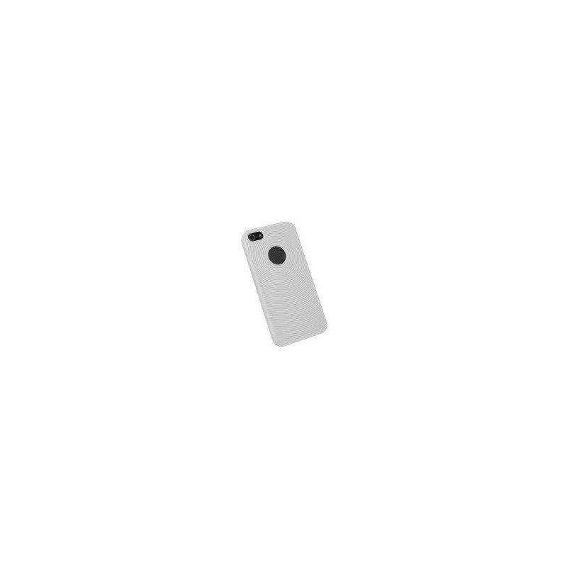 Funda silicona circulos iPhone 5 ( Blanca )