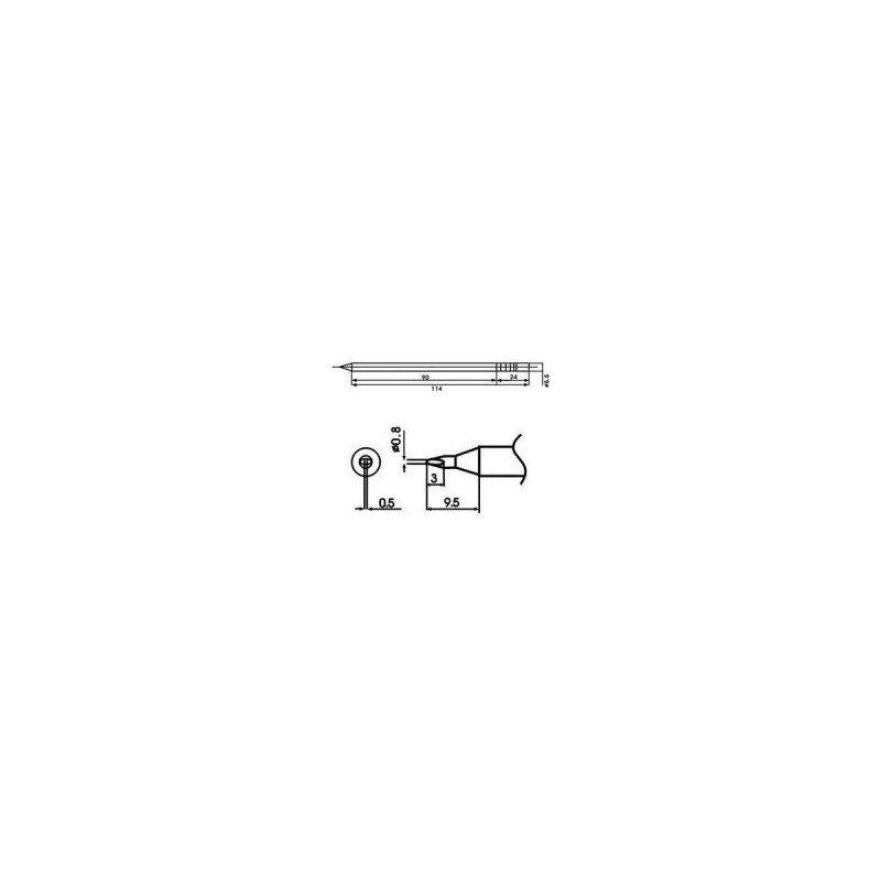 Cartucho soldador punta Redonda Inclinada AOYUE ( WQ-08D )Cartucho soldador punta Redonda Inclinada