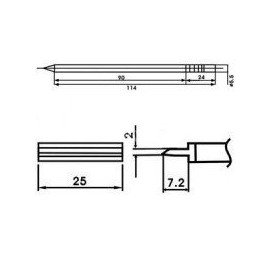 Cartucho soldador punta PALETILLA AOYUE ( WQ-1403 )