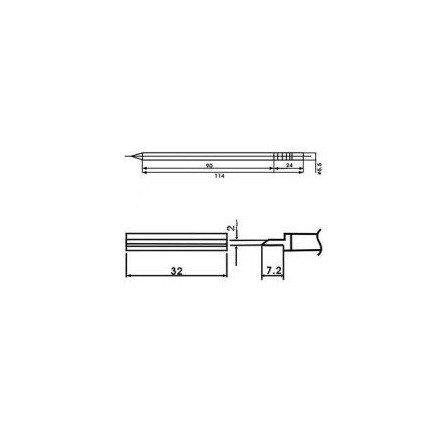 Cartucho soldador punta PALETILLA AOYUE ( WQ-1404 )