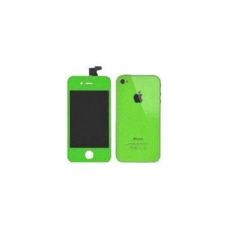 Pantalla Retina LCD + Tactil + Carcasa trasera + Boton home iPhone 4S ( Set conversión Verde )