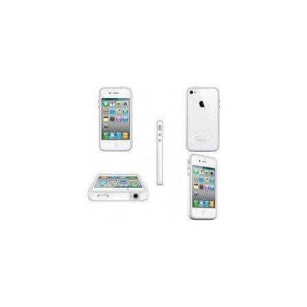 Funda Bumper TPU con botones cromados iPhone 4G / 4s ( Blanca )