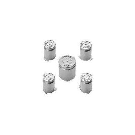 Botones aluminio  casquillo de bala para mando XBOX360 - Plata -