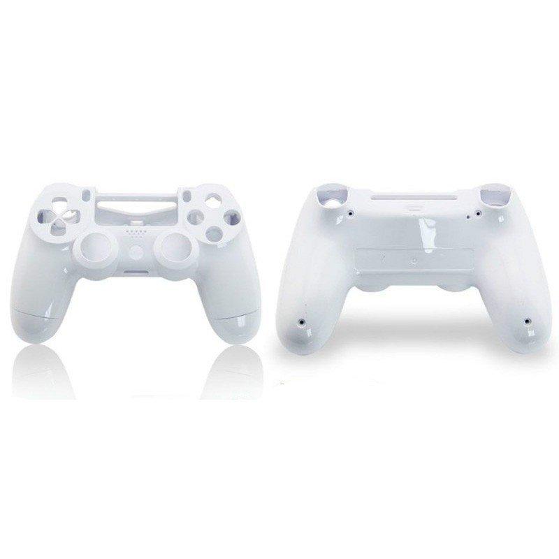 Carcasa completa + botones DualShock 4 PS4 (blanca)